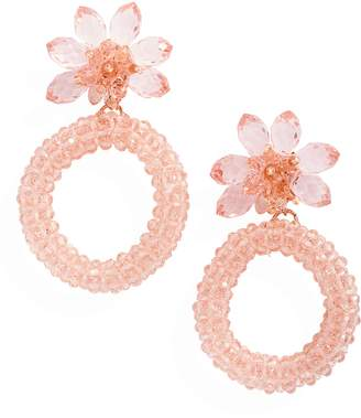 Kate Spade Full Flourish Flower Hoop Clip Earrings