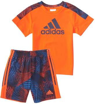 adidas Baby Boy Amplified Net Graphic Tee & Shorts Set