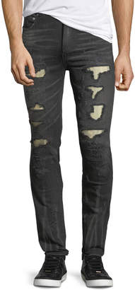 Neiman Marcus God's Masterful Children Distressed Slim-Straight Jeans with Metallo Backing