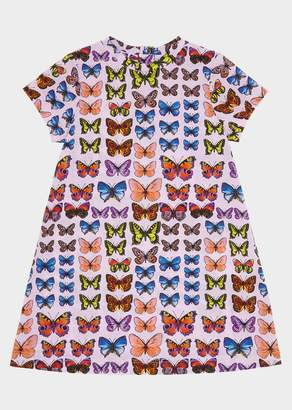 Versace Butterfly Print Short Sleeve Dress