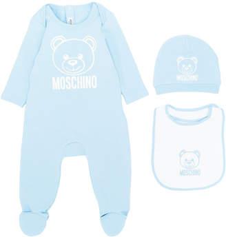 Moschino Kids bear print pajama set