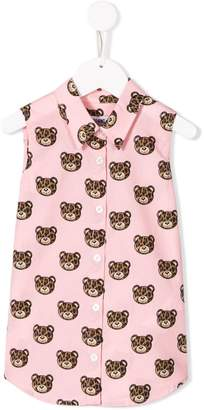 Moschino Kids TEEN bear sleeveless shirt