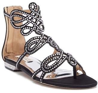 Badgley Mischka Tempe Embellished Suede Sandal