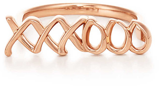 fbc061a3f668 Tiffany   Co. Paloma s Graffiti love   kisses ring in 18ct rose gold - Size