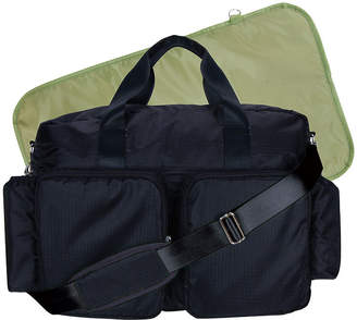Trend Lab TREND LAB, LLC Deluxe Duffle Diaper Bag-Black and Avocado Green