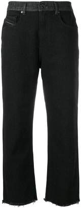Diesel Black Gold raw cropped jeans
