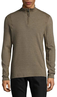 Point Zero Textured Knit Zip Sweater