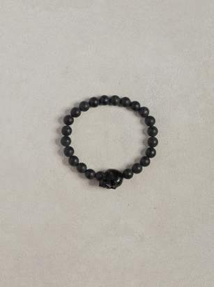 Onyx Skull Bracelet $388 thestylecure.com