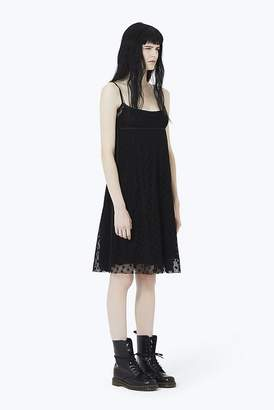Marc Jacobs Embroidered Empire-Waist Strap Dress