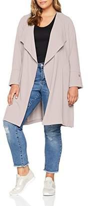 Evans Women's Stud Longline Jacket, (Grey 61), (Size:)