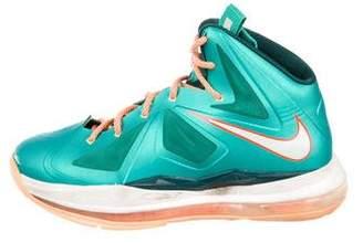 411bc0fd9668 Nike Boys  Lebron X Miami Dolphins Sneakers