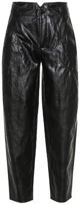 Philosophy di Lorenzo Serafini High-rise faux leather carrot pants