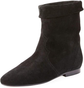 Isabel Marant Ringal Suede Fold-Down Bootie