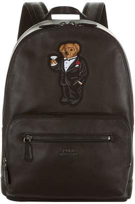 Polo Ralph Lauren Bear Motif Leather Backpack