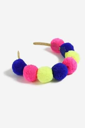 Topshop **Bright Pom Pom Headband