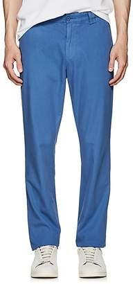 Barneys New York MEN'S COTTON TWILL SLIM CHINOS - DK. BLUE SIZE 28