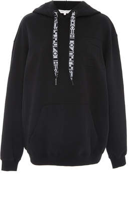 Proenza Schouler PSWL Hooded Sweatshirt With Ribbon Drawstring