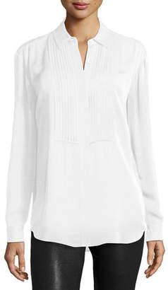 MICHAEL Michael Kors Pleated Bib Long-Sleeve Shirt