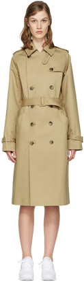 A.P.C. Beige Greta Trench Coat $660 thestylecure.com