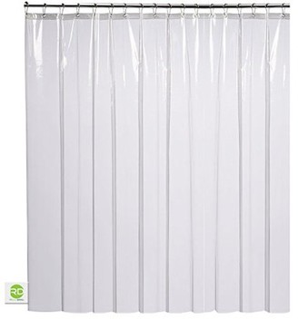 clear Creatov Design Shower Curtain Mildew Resistant - 72x72 Peva Bath Curtains Liner for Bathroom Waterproof Odorless No Toxic Eco Friendly Anti Bacterial Heavy Duty Rustproof Metal Grommets For Easy Hanging on Rod