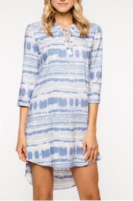 Everly Lace-Up Shift Dress $58 thestylecure.com