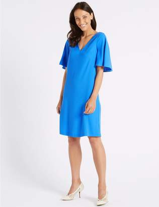 Marks and Spencer Double Layer Half Sleeve Shift Dress