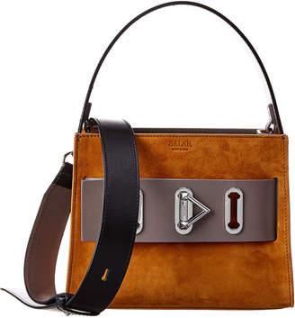 Salar Milano Ludo Suede & Leather Shoulder Bag