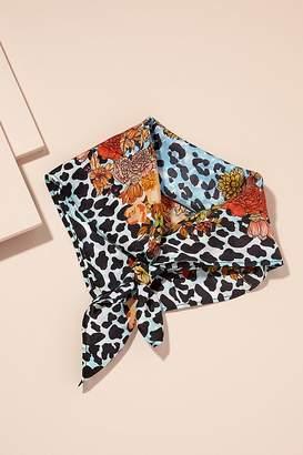 Mixed-Print Silk Scarf
