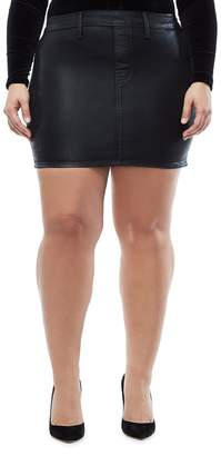 Good American The Waxed Denim Miniskirt