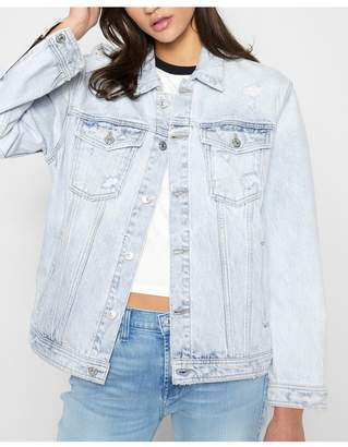 85d3aacee2 7 For All Mankind Oversized Boyfriend Jacket With Destroy In Desert Sun  Bleached