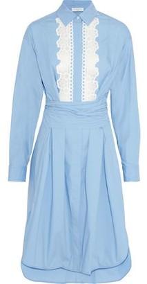 Sandro Cox Broderie Anglaise-Trimmed Cotton-Poplin Shirt Dress