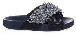 Tory Burch Logan Embellished Slides