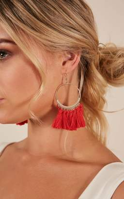 Showpo Got Me Daydreaming earrings in red Earrings