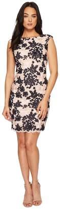Lauren Ralph Lauren Montague Bria Embroidered Scallop Mesh Dress Women's Dress