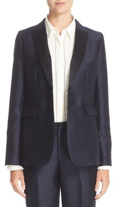 Women's Nordstrom Signature And Caroline Issa Silk Trim Tuxedo Jacket $799 thestylecure.com