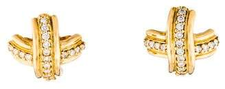 Tiffany & Co. 18K Diamond Signature X Earrings