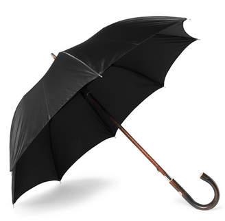 Francesco Maglia - Chestnut Wood-Handle Umbrella - Men - Black