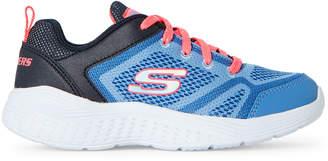 Skechers Toddler Girls) Periwinkle Snap Spirits Running Sneakers