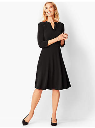 Talbots Knit Fit & Flare Dress - Solid