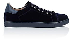 Gianvito Rossi Men's Velvet Sneakers-Navy
