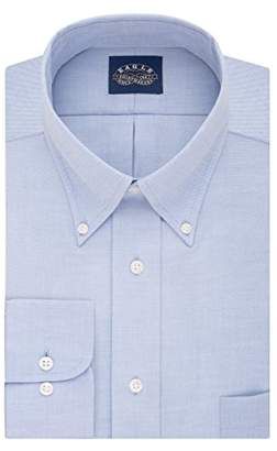 Eagle Mens Dress Shirts Big Fit Non Iron Strech Solid Button Down Collar