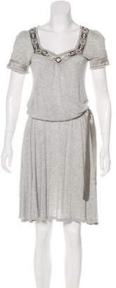 Blumarine Short Sleeve Midi Dress