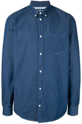 Norse Projects sunwashed denim shirt