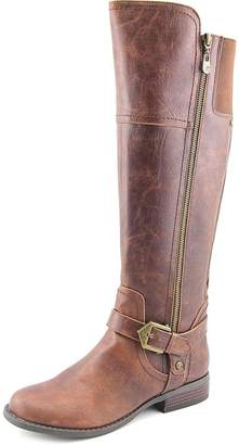 G by Guess Womens HAILEE Leather Closed Toe Knee High Riding, Brown, Size 7.0