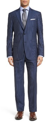 Men's Hart Schaffner Marx Classic Fit Stripe Wool Suit $995 thestylecure.com