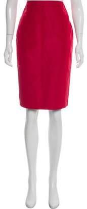 Andrew Gn Silk Pencil Skirt