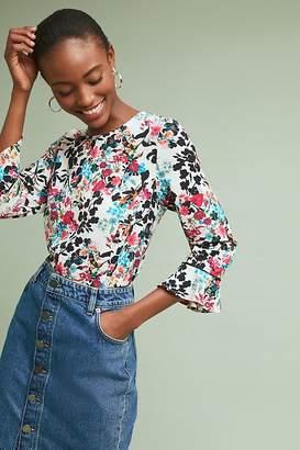 W5 Concepts Juliet Floral-Print Ruffled Top