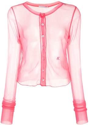 Helmut Lang sheer button shirt