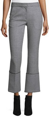 Derek Lam Cuffed Houndstooth Pants, Black/White $287 thestylecure.com