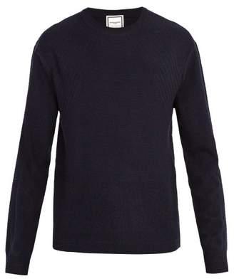 Wooyoungmi Cashmere Crew Neck Sweater - Mens - Dark Blue
